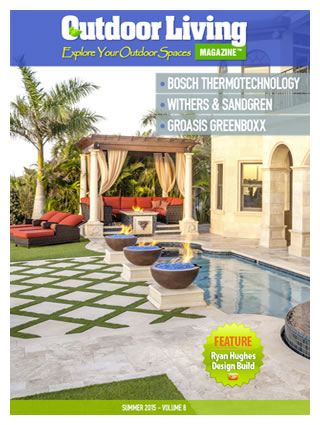 Artistry of space by florida pool builder ryan hughes for Outdoor living magazine